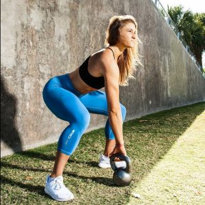 Katie Sonier - About Me - Kettle bell Swings Exercise